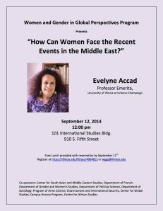 How can women face the recent events in the Middle East ?