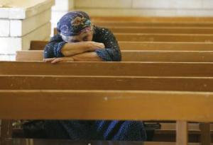 A Qaraqosh, dans le Kurdistan irakien, où les chrétiens de Mossoul ont trouvé refuge -AFP/Karim Sahib