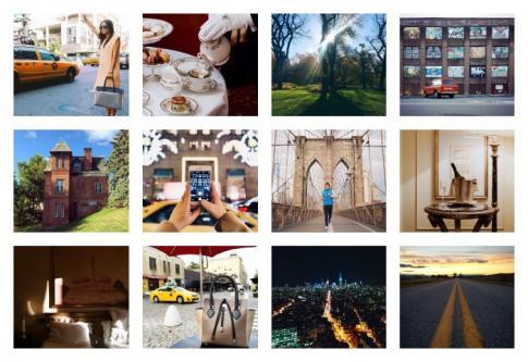 Photos tirées des comptes Instagram de @newyorkcity, @aialahernando et @bridif, qui gagnent de l'argent grâce à leurs photos sur le réseau social